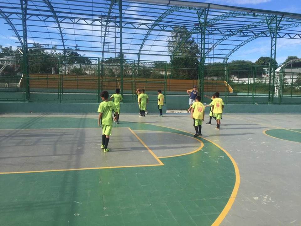 Aula Inaugural do Núcleo do Conjunto Ceará-CCDH do Projeto Futsal SESC .
