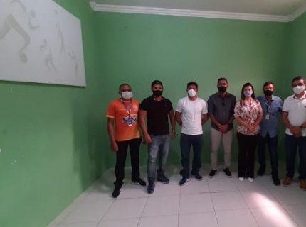 A coordenação do Projeto Futsal SESC Ceará, compareceu hoje no município de  Pindoretama.
